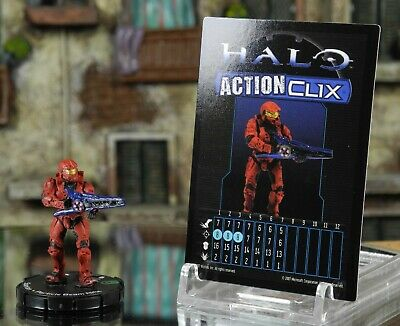 Halo ActionClix #041 Red Spartan With Beam Rifle W/ Card WizKids • 2.99£