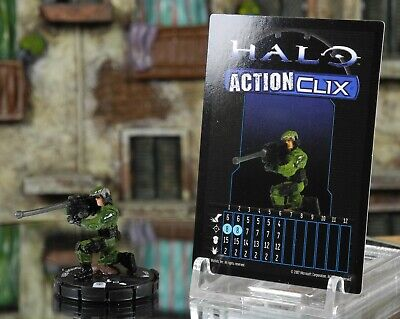 Halo ActionClix #087 Marine With Sniper Rifle W/ Card WizKids • 4.59£