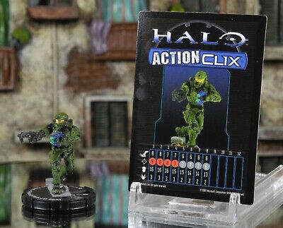 Halo ActionClix #052 Master Chief With Plasma Pistol & SMG W/ Card WizKids • 3.49£