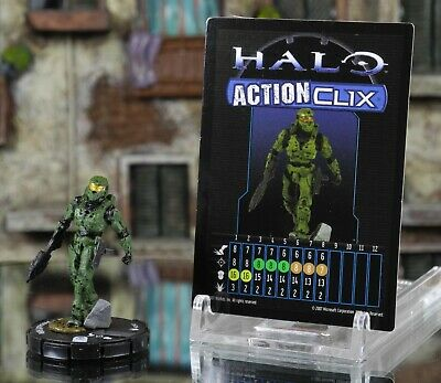 Halo ActionClix #090 Master Chief With Assault Rifle W/ Card WizKids • 6.99£