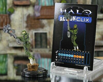 Halo ActionClix #082 Master Chief With Fist Of Rukt W/ Card WizKids • 9.99£
