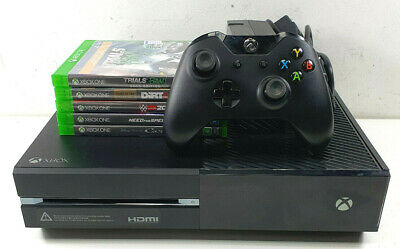 AU114.50 • Buy Microsoft Xbox One 1540 500GB Black + 5 Games + 1x Controller  - Bids From $1.00