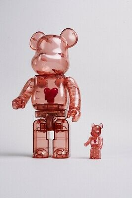 $525 • Buy Bearbrick X Emotionally Unavailable Red Heart 100% And 400% Set Red