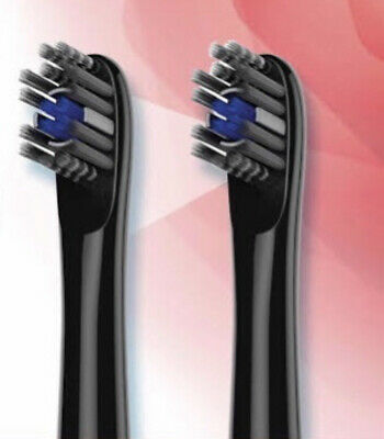 AU18.95 • Buy NEW Colgate Omron Electric Toothbrush Heads Refill - 2 Brush Heads - Black
