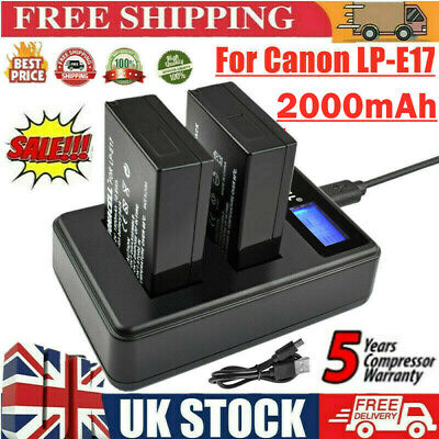 2X LP-E6 Battery + LCD Dual Charger Replace For Canon EOS 5D 60D Mark II Camera • 17.49£