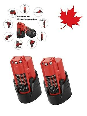 $ CDN46.98 • Buy 2Pack M12 12V 2.5Ah Lithium-ion Replace Battery For Milwaukee M12 48-11-2420 N00