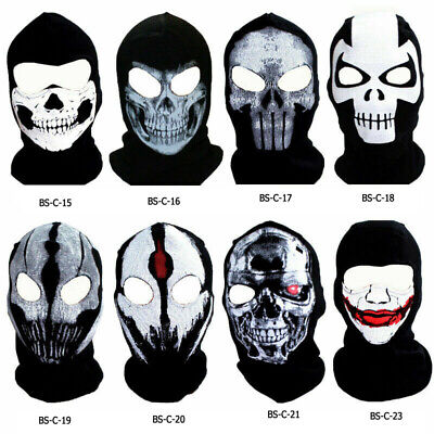 Ghost Skull Balaclava Motorcycle Motorbike Biker Neck Warmer Scarf Snood Hood • 6.45£
