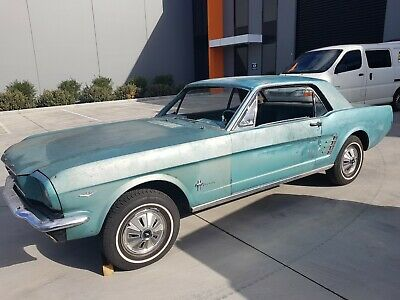 AU18999 • Buy 1966 Ford Mustang Coupe,tahoe Turquoise Paint Car,project,289, Auto New Parts!!