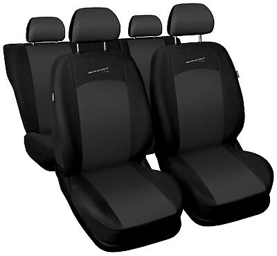£33.99 • Buy Car Seat Covers Fit BMW 3 Series - Full Set Grey / Black Sport Style