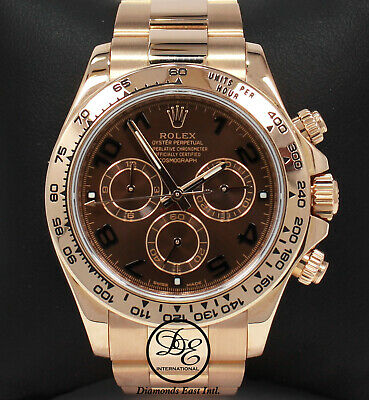 $ CDN60896.36 • Buy Rolex Daytona Chocolate 116505 18K Rose Gold Cosmograph Oyster MINT Box/Papers