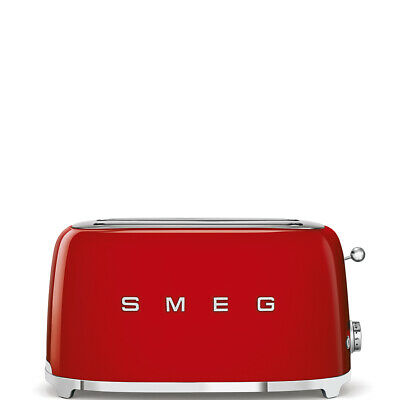 $186.95 • Buy Smeg TSF02RDUS 50's Retro Style Aesthetic 4x2 Slice Toaster, Red