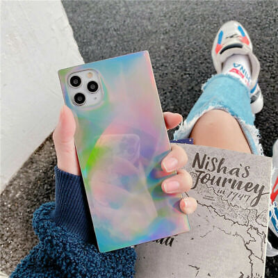 AU8.98 • Buy Cool Art Square Glitter Case For IPhone 11 Pro Max XS XR 6 7 8+ Cute Back Cover