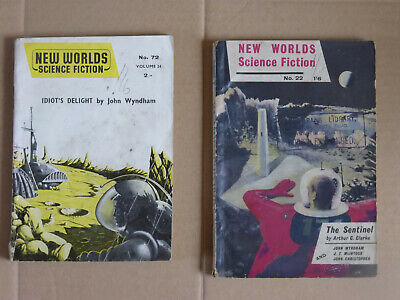 Two John Wyndham Tales In New Worlds Magazine 1954 And 1958,  + Arthur C Clarke • 12£
