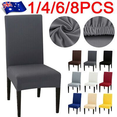 AU5.54 • Buy 1/4/6/8Pcs Dining Chair Cover Stretch Removable Slipcover Washable Banquet Event