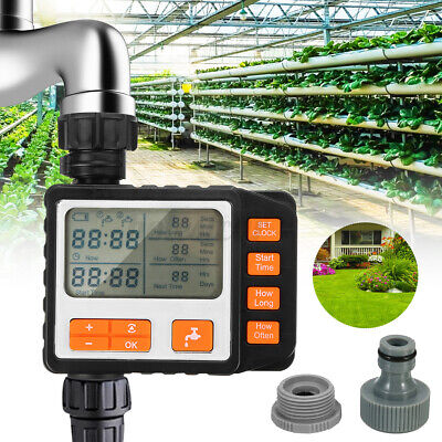 Automatic  Water Timer Irrigation Hose Watering Garden Plant System NEW • 26.99£