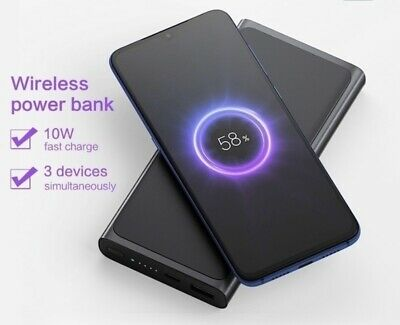 AU41.80 • Buy Xiaomi PLM11ZM Power Bank 10000mAh Fast Wireless Charger With USB Type C