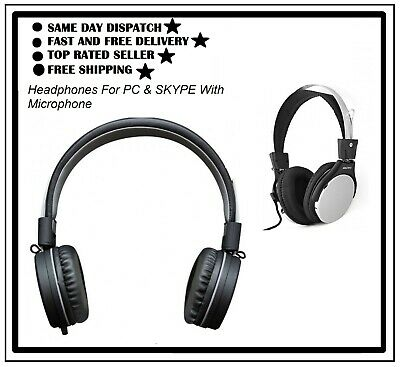 High Quality Headphones For PC & SKYPE With Microphone - SAIYO SY-2070 • 7.80£