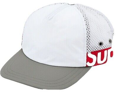 $ CDN90.76 • Buy Supreme 5 Panel Hat Side Logo White/Red