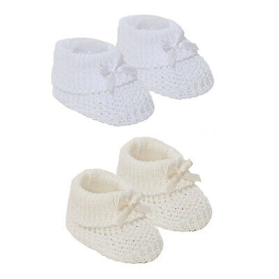 £2.99 • Buy Newborn Baby Boys Girls Spanish Style Booties With Bow Cotton Baby Bootees S435