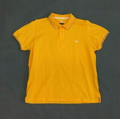 Harmont & Blaine Mens Polo Shirt Narrow Fit Yellow Short Sleeve Collared Size M • 19.99£