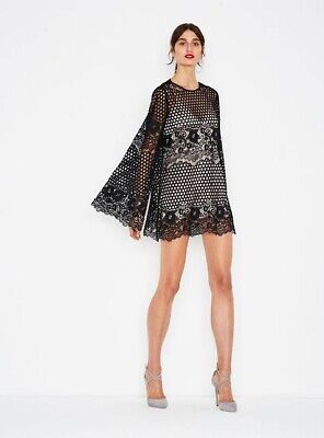 AU75.05 • Buy New With Tag Alice McCall Like I Would Lace Mini Dress - Black - Size 6