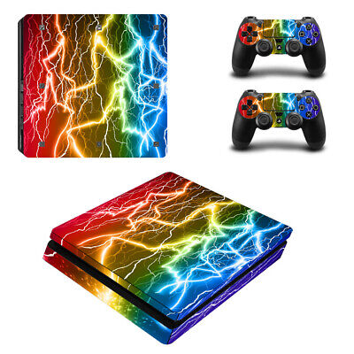 AU9.39 • Buy Lightning Sticker Decal Skin Wrap For PS4 Slim Console &Controllers Full Set