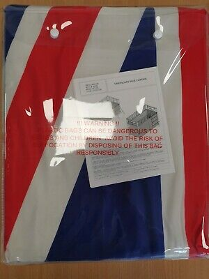 Union Jack Blue Bed Curtain • 12£