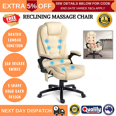AU173.83 • Buy Heated Leather Massage Chair Office Desk Massager Heats Office Massage Chair New