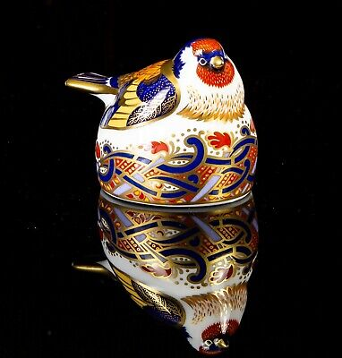 Royal Crown Derby -goldfinch Nesting- Animal Paperweight Figure Model & Stopper • 50£