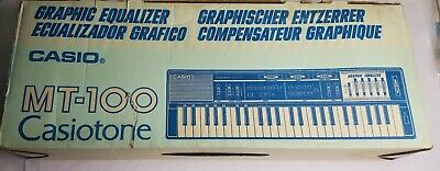 $79.99 • Buy Casio MT-100 Casiotone Keyboard Synthesizer Graphic Equalizer Tested Works Great