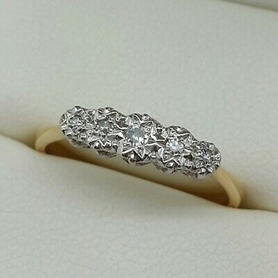 Vintage Diamond 5 Stone In 18ct Gold And Platinum. Ring Size N 1/2.  • 150£