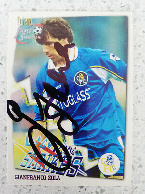 Gianfranco Zola Chelsea Legend Hand-signed Autographed Trading Card • 12.95£