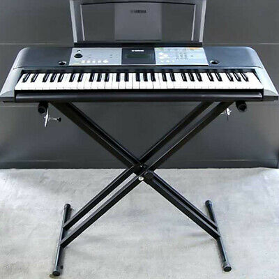 Electronic Piano X  Double Stand Music Keyboard Standard Rack Adjustables Metal • 12.65£