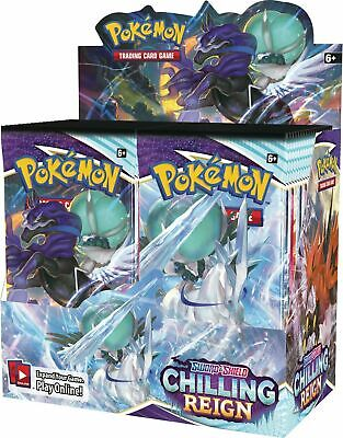 AU185 • Buy Pokemon TCG Sword & Shield Chilling Reign Sealed 36 Booster Box BRAND NEW