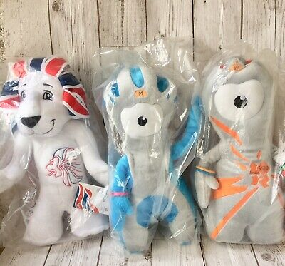 BNWT Pride The Lion, Wenlock, Mandeville OLYMPICS 2012 PARALYMPICS Mascots • 8.99£