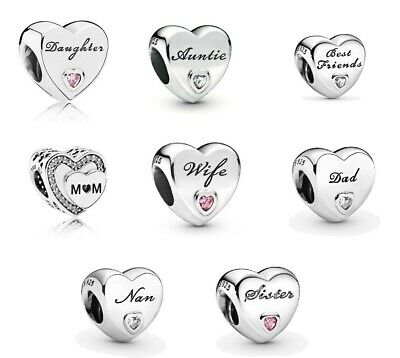 New Genuine Silver Pandora Moments Daughter Wife Auntie Mum Charms S925 Ale • 16.49£