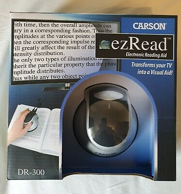 Carson EzRead Electronic Reading Aid Digital Magnifier TV Output Used Only Once • 100£