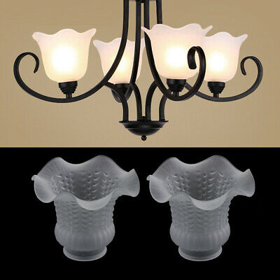 2pcs Glass Chandelier Lamp Shade Bedside Ceiling Lamp Lampshade For Bedroom • 11.95£