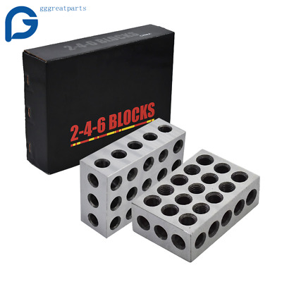 $73.55 • Buy 1 Matched Pair 2-4-6 Blocks 23 Holes  .0002  Machinist Precision 246 Jig US