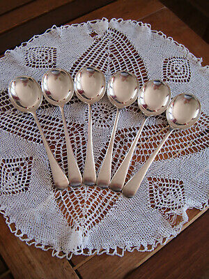 £10.99 • Buy 6 SILVER PLATED COOPER BROTHERS SHEFFIELD SOUP SPOONS 19cm Long
