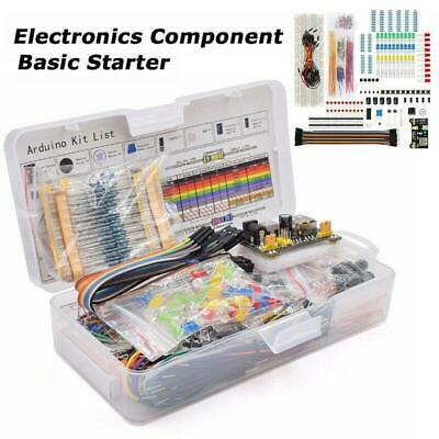 Electronic Component Starter Kit Wire Breadboard LED Buzzer Resistor Transistor • 8.79£