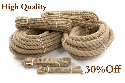 16 Meters 24mm Thick Natural Jute Rope Twisted Decking Cord Garden Boating • 25£