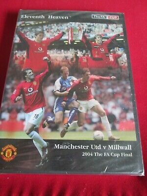 FA Cup Final 2004 - Manchester United V Millwall (DVD, 2005) NEW & SEALED • 19.99£