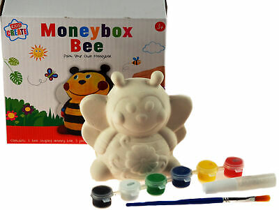 £9.99 • Buy Paint Your Own Animal Money Box  / Craft Kit Toy - Bumble Bee