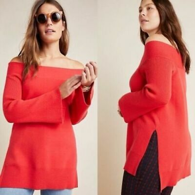 $ CDN81.45 • Buy NWT Anthropologie Womens Red Elise Ribbed Tunic Size XL