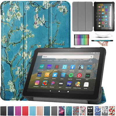 For Amazon Kindle Fire HD 8 /HD 8 Plus 2020 Leather Smart Case Stand Flip Cover • 7.47£