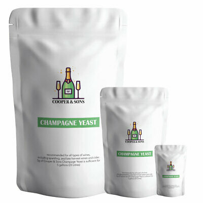 £4.79 • Buy Champagne Yeast For All SPARKLING Wine & Cider Super Yeast By Cooper & Sons