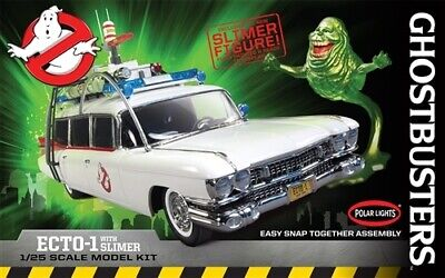 Polar Lights - Ghostbusters Ecto-1 With Slimer 1:25 958 Snap-It Plastic Model • 21.52£