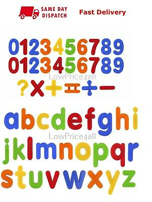 Kids Learning Teaching MAGNETIC Toy Letters & Numbers Fridge Magnets Alphabet • 4.99£