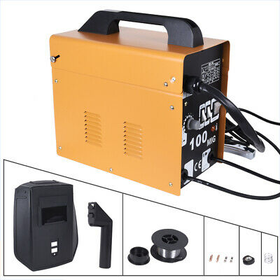 Gasless Mig 100 Welder No Gas Flux Core Auto Wire Feed Portable Welding Machine • 79.99£